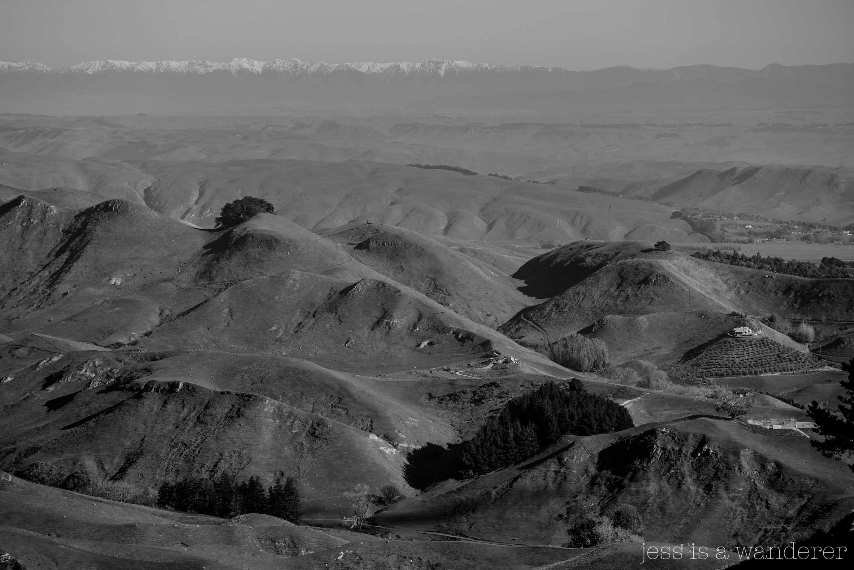 Black and White hills