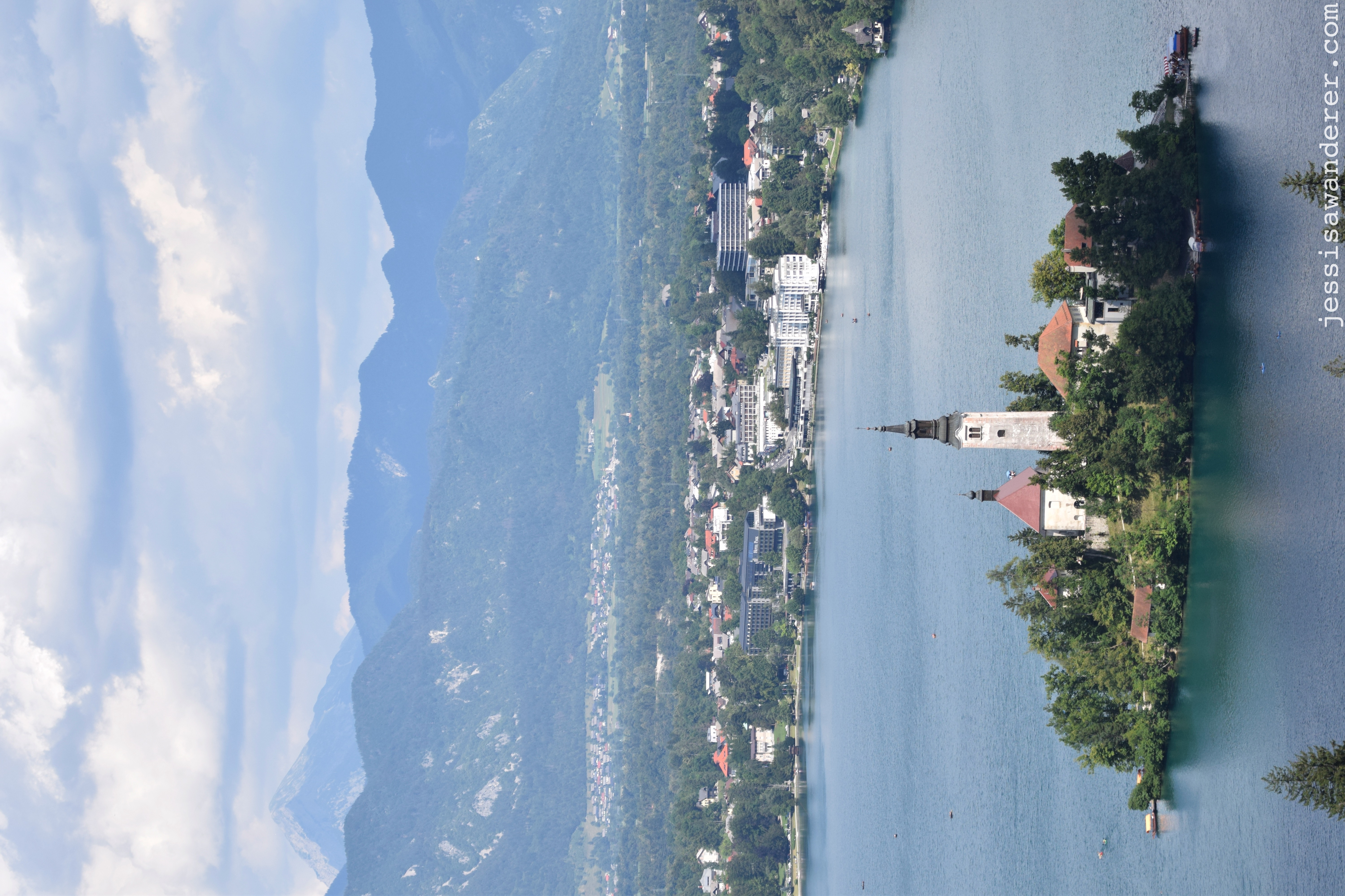 Bled Town in the Distance