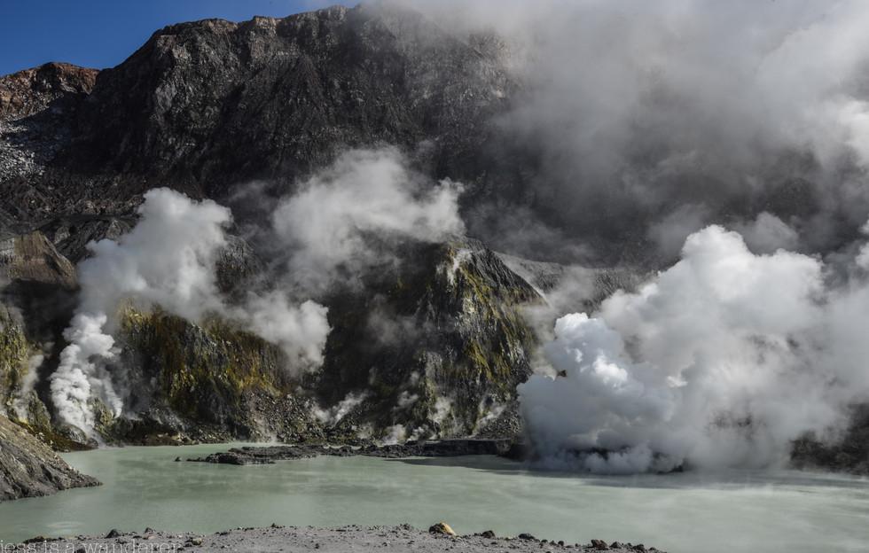 Sulphur Lake with Mini Eruption Happening
