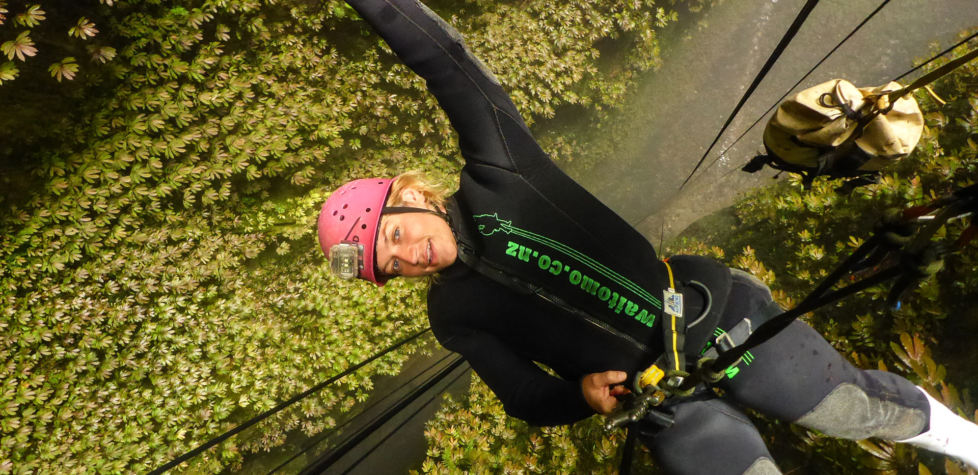 Abseiling down 100m