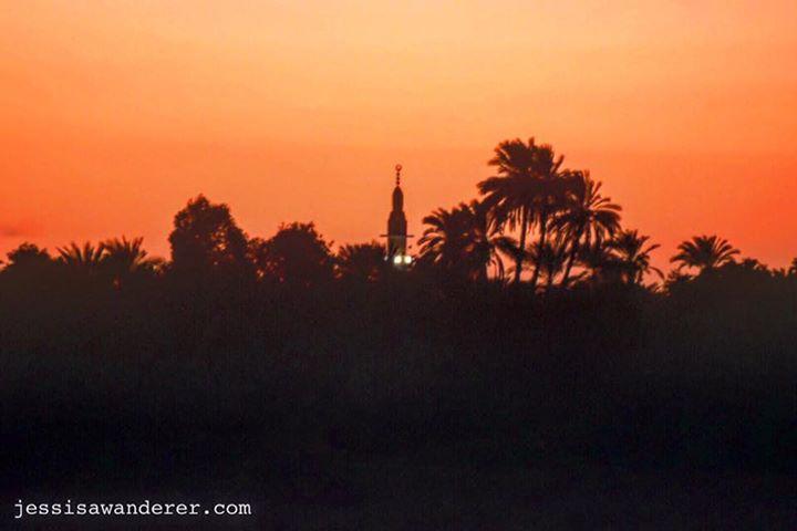 Sunset near Kom Ombo