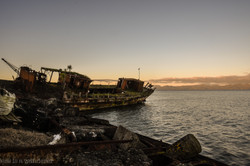 Sunset over Wreck