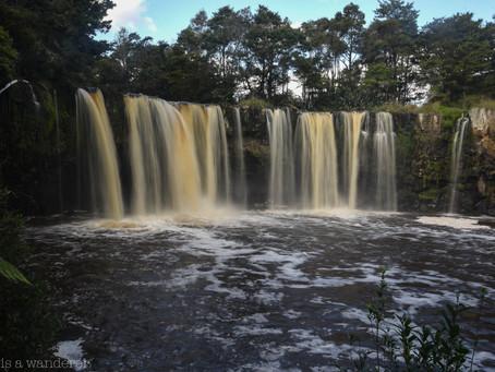 Jess is a Wanderer at Mangere Falls