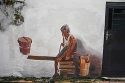 Man Sawing
