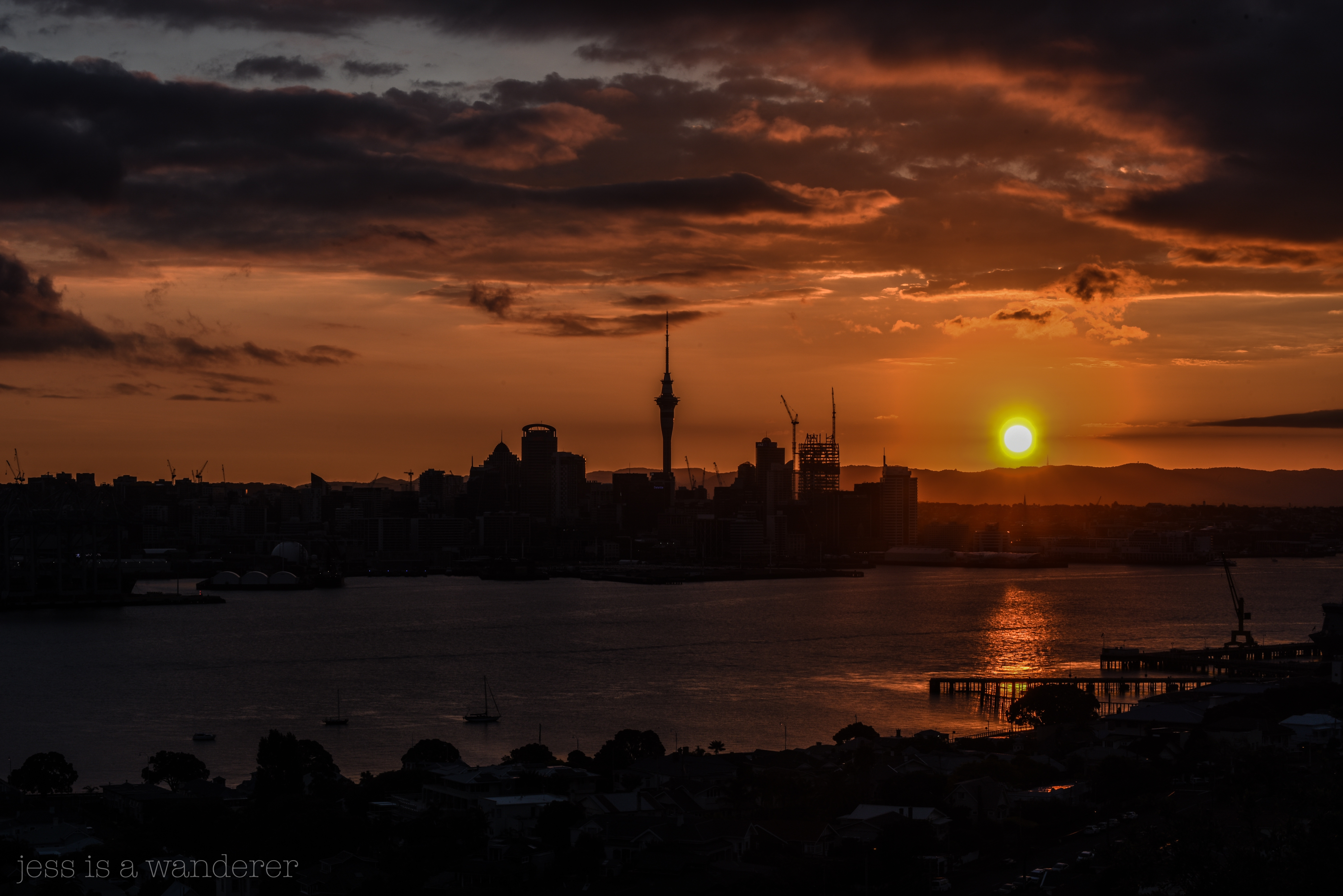 Sunset from Mount Victoria
