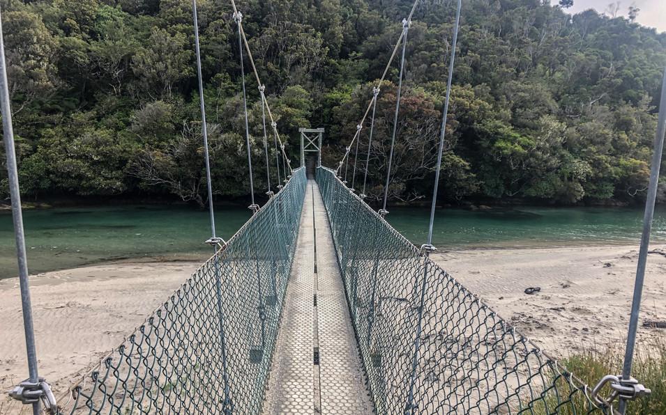 Suspension Bridge at Maori Beach
