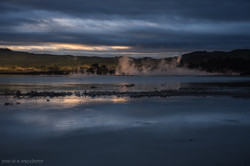 Steam Rising from the Lake