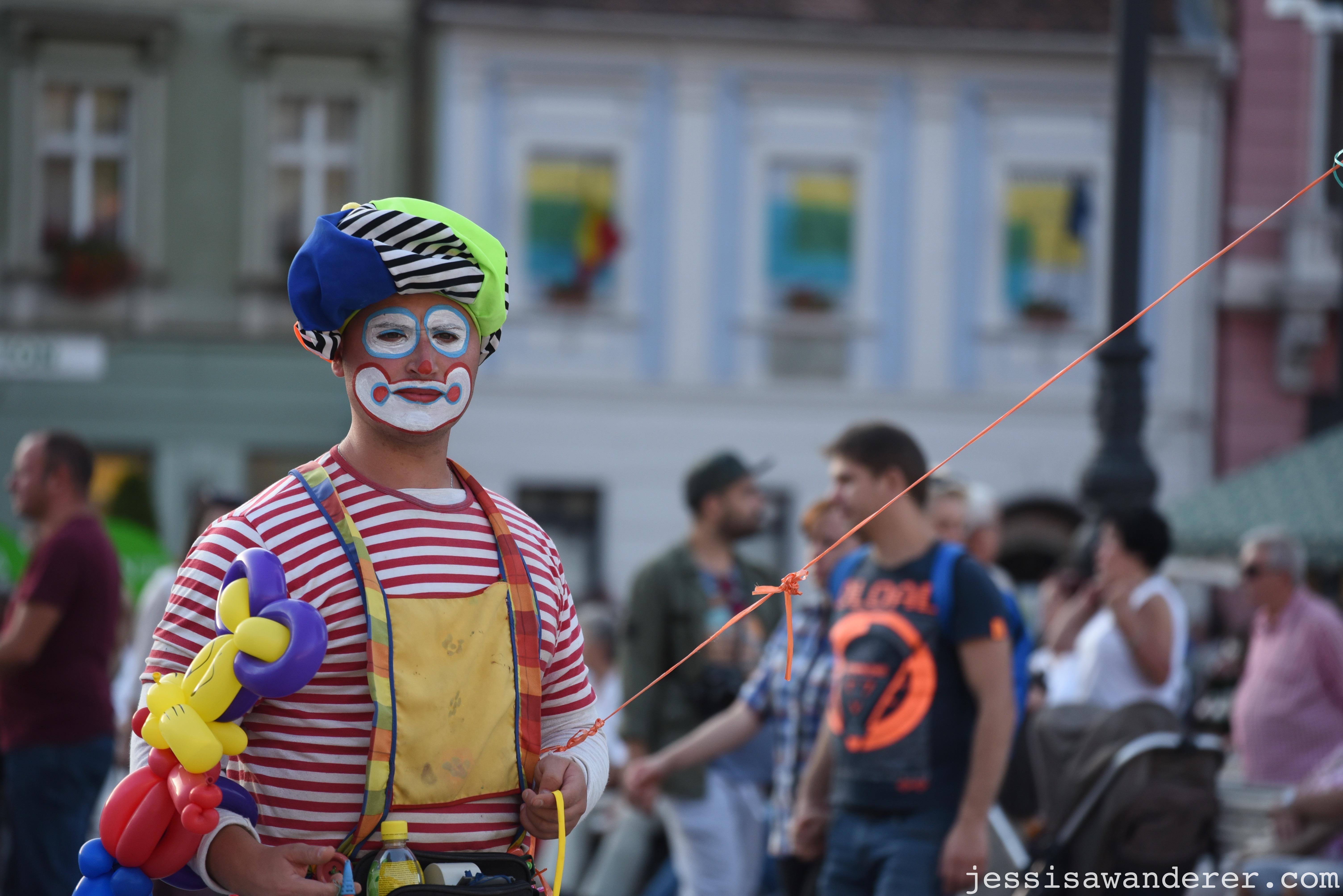 Clown Street Performer