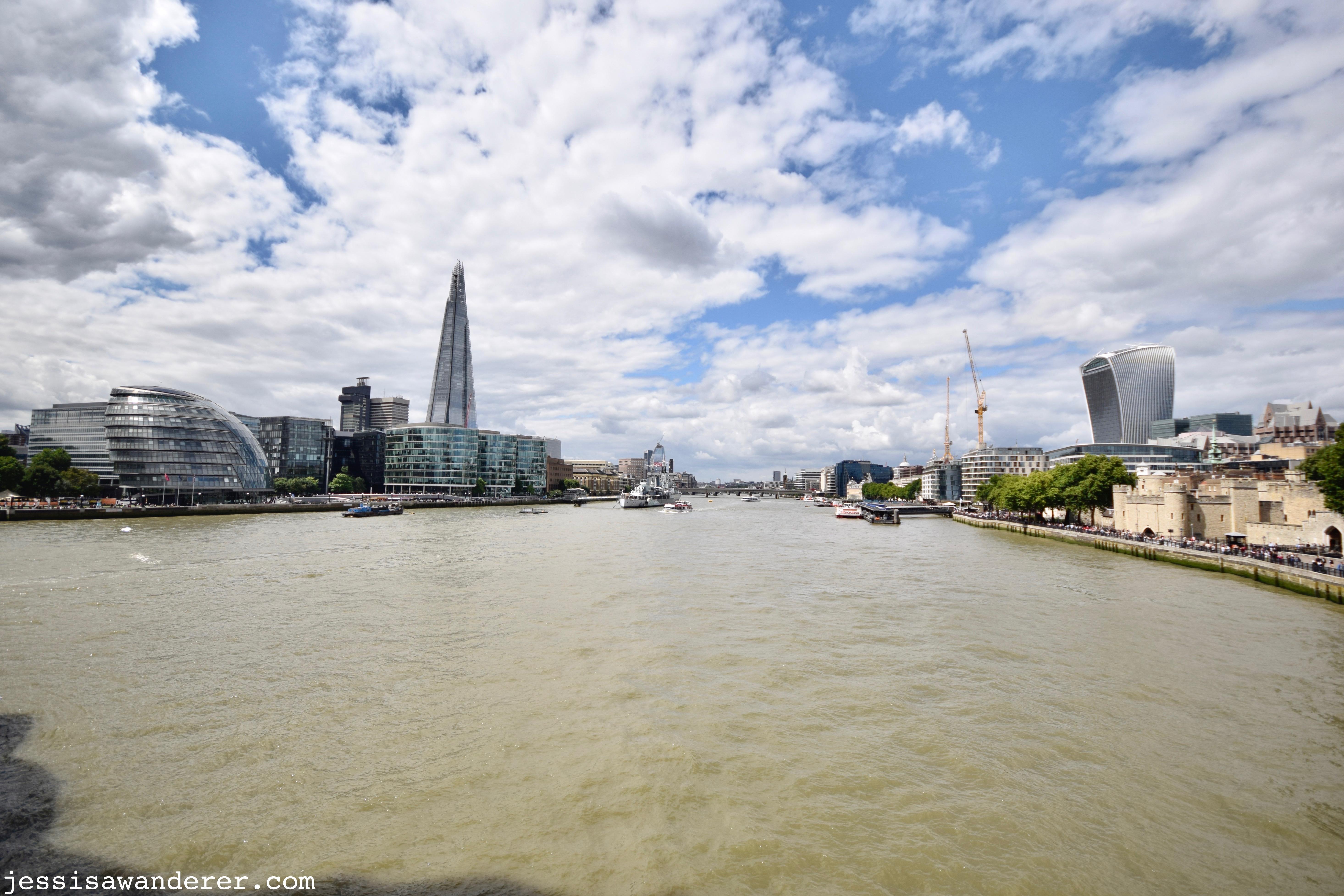 Panoramic from Tower Bridge