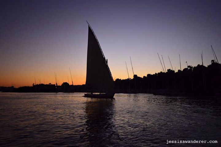 Felluca Silhouette, River Nile