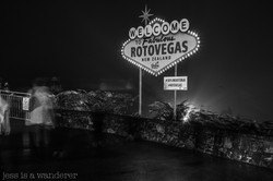 Rotovegas Sign at the Skyline