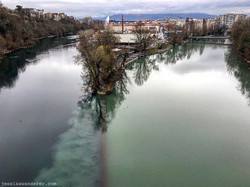 Rhone and Arve Confluence