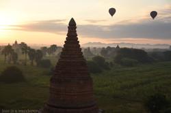 Stupa and Balloons