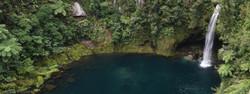 Looking down at Omanawa Falls
