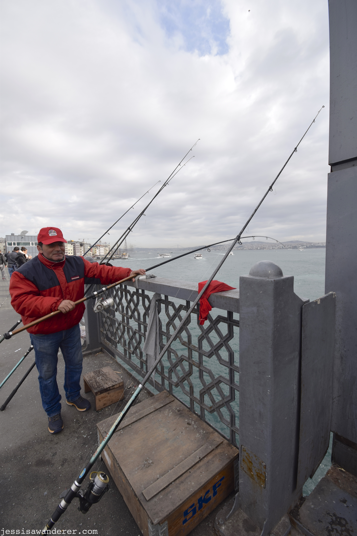 Fisherman in Red
