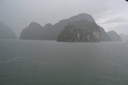 Hazy Halong Bay
