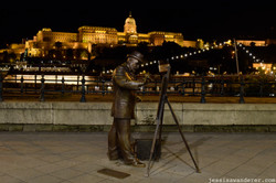 Artist Statue and Castle