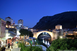 Stari Most Busy Evening