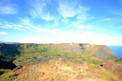 Crater on top of a volcano
