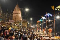 Night scenes in Varanasi