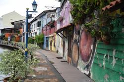 Colourful Riverside Street