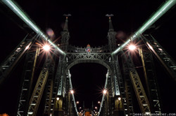 Looking up at the Chain Bridge