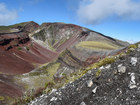 Jess is a Wanderer on Mount Tarawera