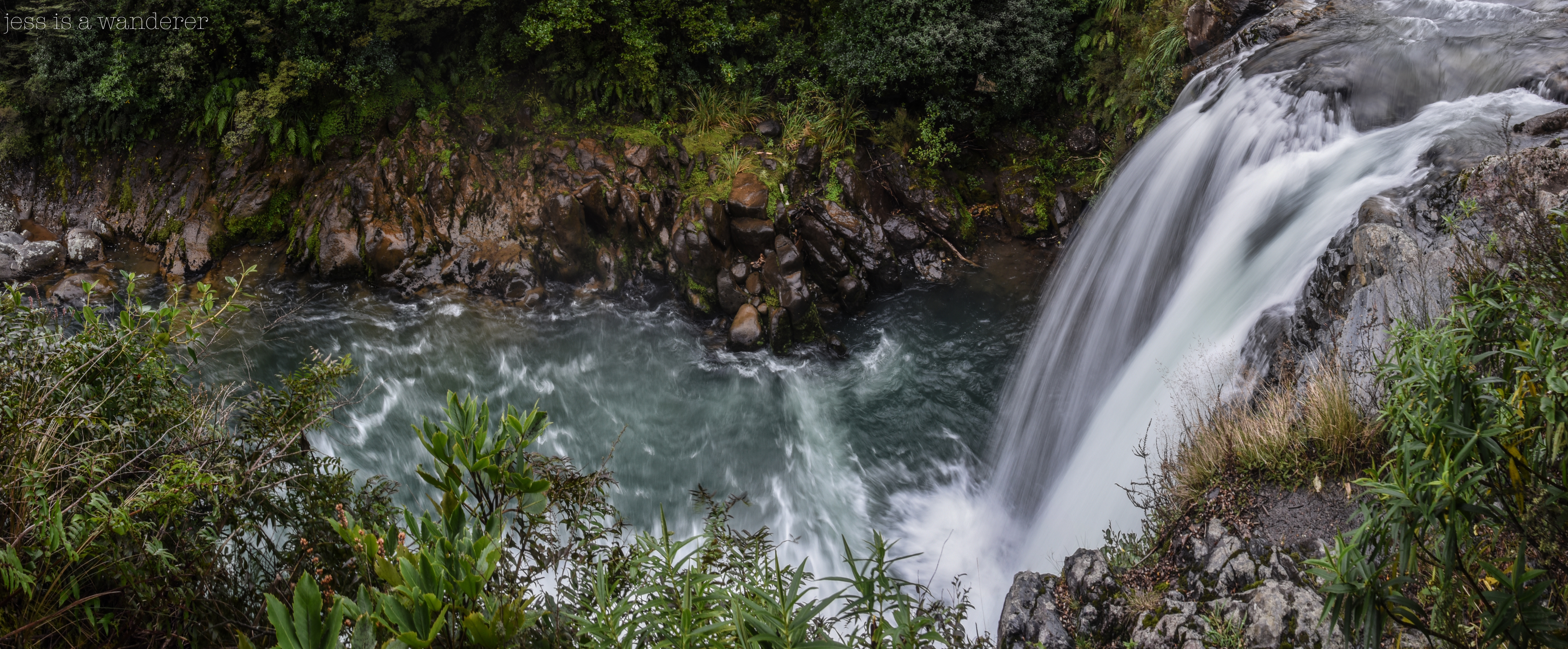 Tawhai Falls from Above