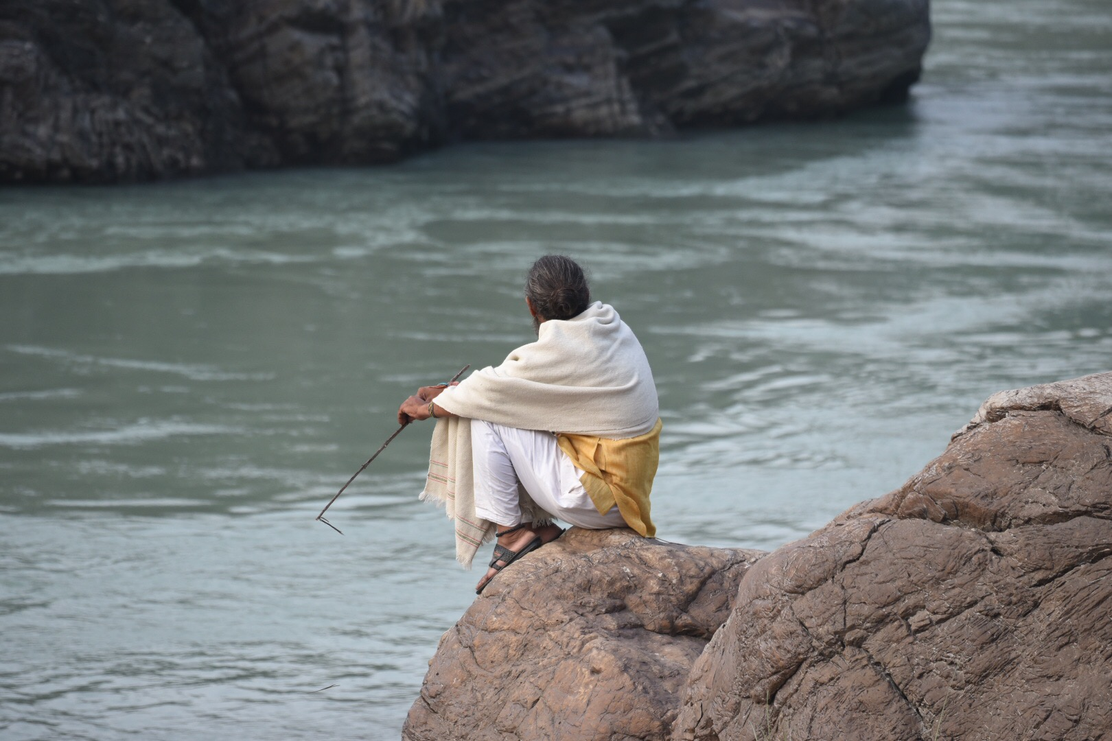 Yogi on the Ganges