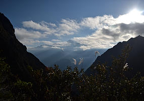 Mountain views on the Inca Trail