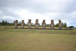Statues at Ahu Akivi