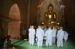 Female Buddhist Monks in Prayer
