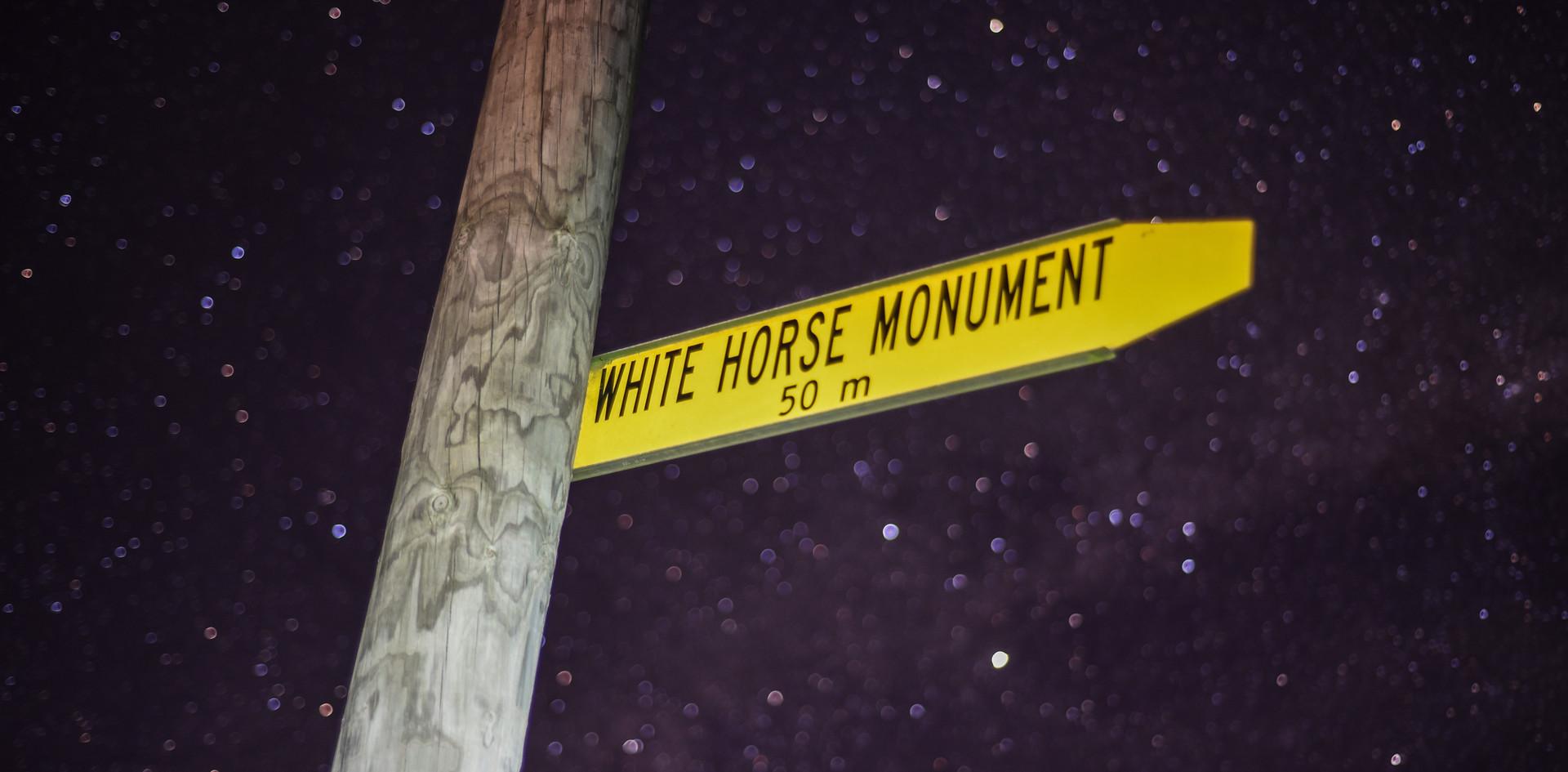 White Horse Sign