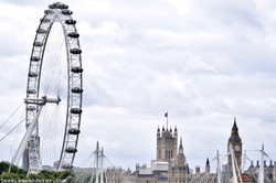 London Eye and Houses of Parliament