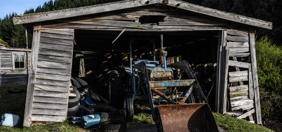 Tractor in Shed