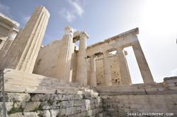 Looking up at Parthenon