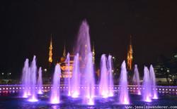 Blue Mosque Purple Water
