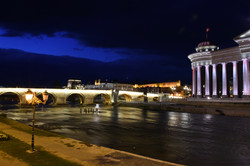 Museum and Bridge by Night