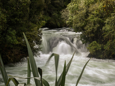 Jess is a Wanderer at Okere Falls