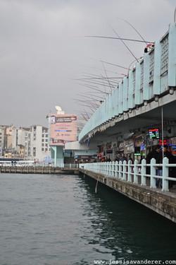 Fishing off Galata Bridge