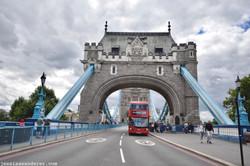 Red Bus on Tower Bridge