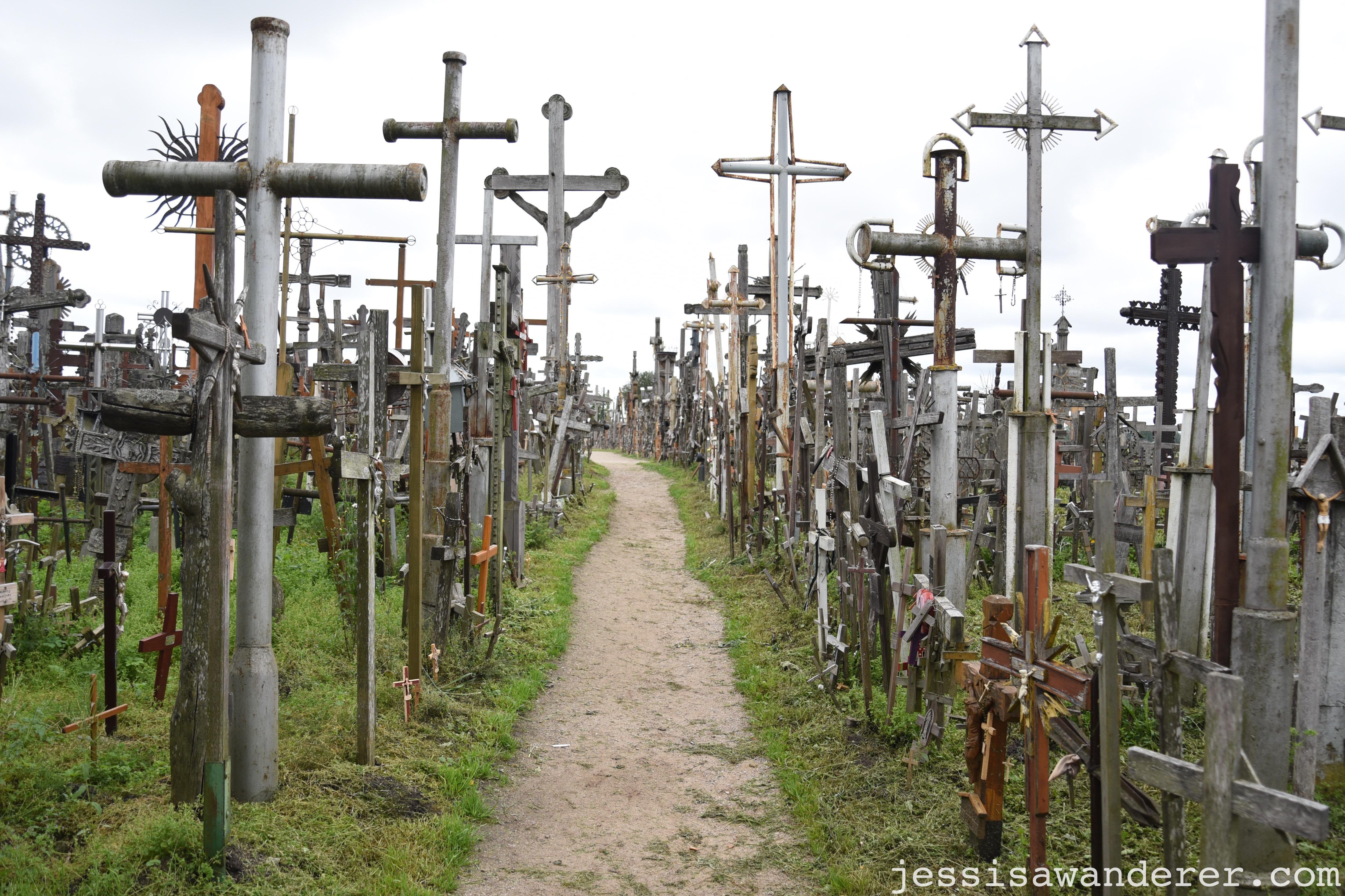 Walkway through Crosses