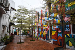 Street filled with Street Art