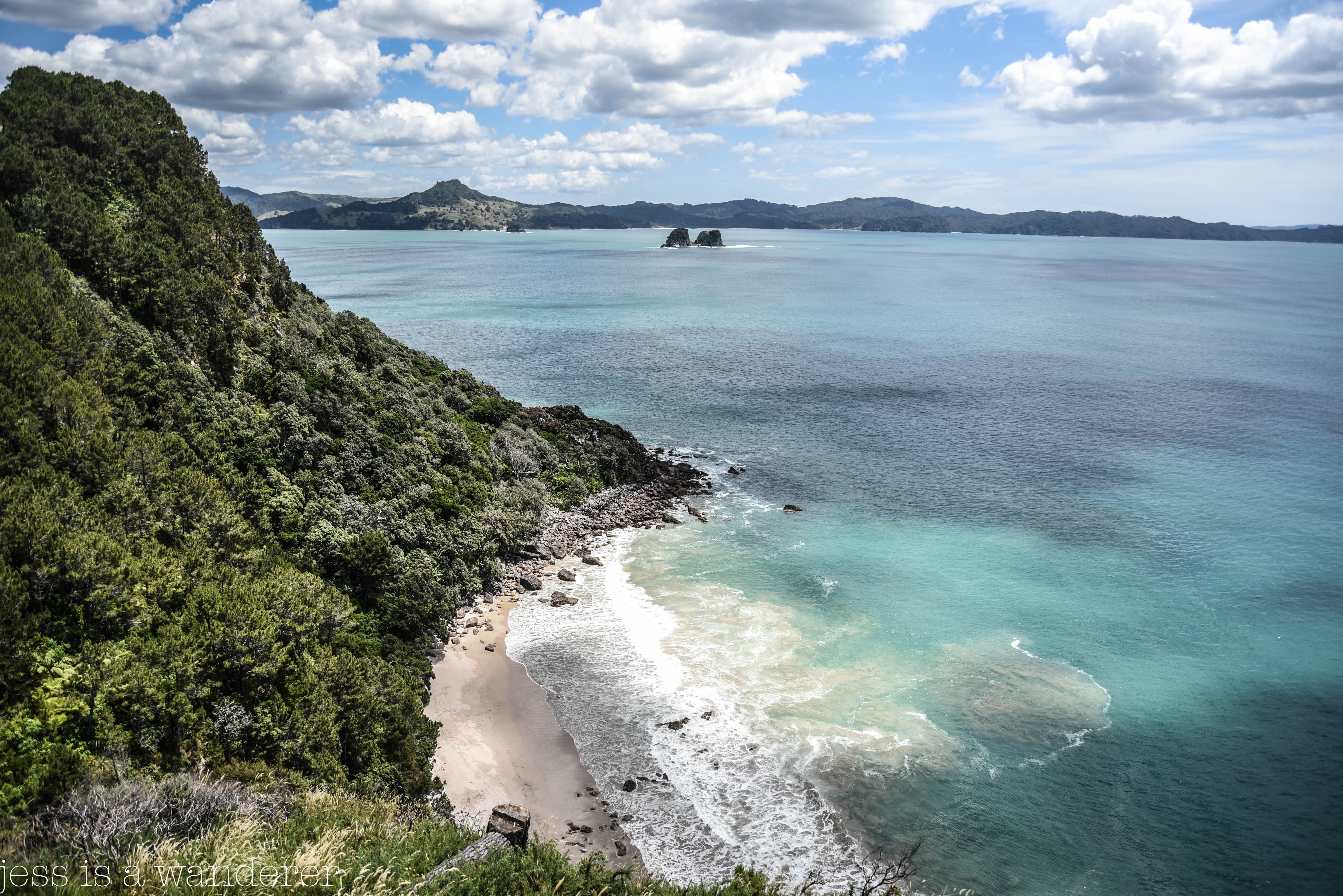 From Cathedral Cove Lookout