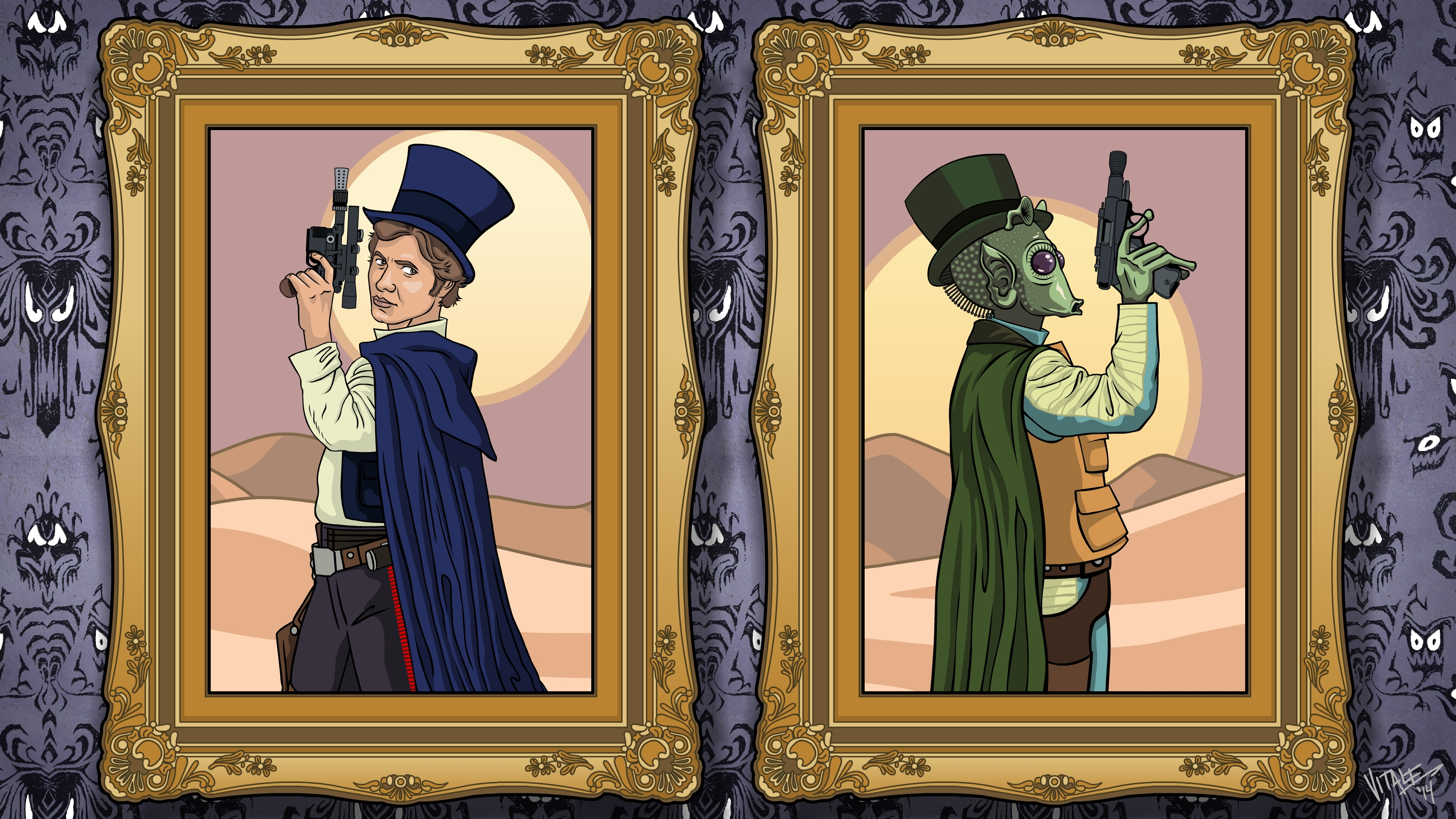 Star Wars Dueling Portraits