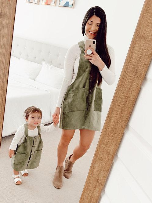 Mommy Verdona Green Olive Jumper Dress