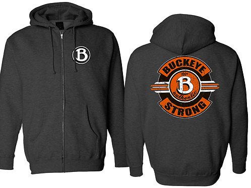Buckeye Independent Trading Co. - Heavyweight Full-Zip Hooded Sweatshirt