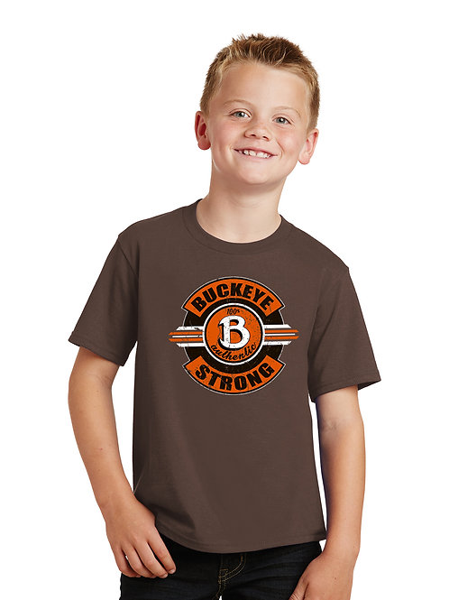 Buckeye Port & Company Youth Dark Brown Tee