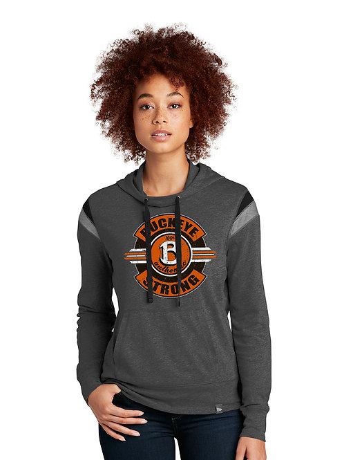 Buckeye New Era  Ladies Heritage Blend Varsity Hoodie