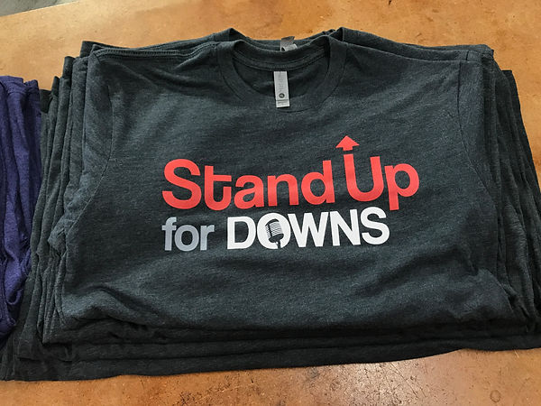 stand up for downs screen print sirt
